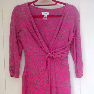 Lilly Pulitzer Pink Twist-Front Faux Wrap Dress